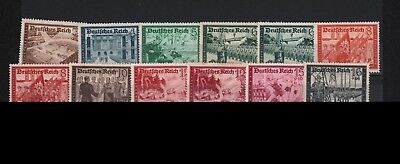Germany 1939 Complete Set Professional Competitions Flags Automobile #b148-B159