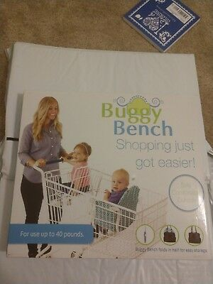 Buggy Bench Shopping Cart Seat Cover Blue Baby Toddler New In Box Boy Girl New