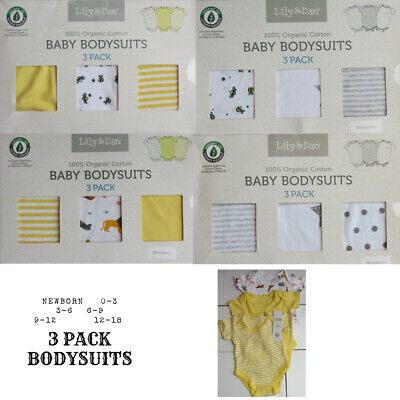 3 pack baby boys girls unisex babysuits vests rompers ( BOXED )( 9-12 months bee