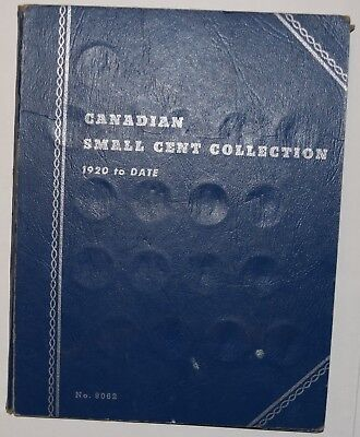 Canada Small Cent Collection in Book - Dates: 1920 to 1972 Mainly Complete