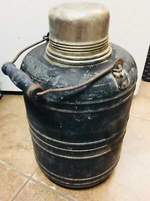 Antique Stanley 1 Gallon Thermos,Bottle,Jug,Steel,Insulated,Metal,Vintage,USA