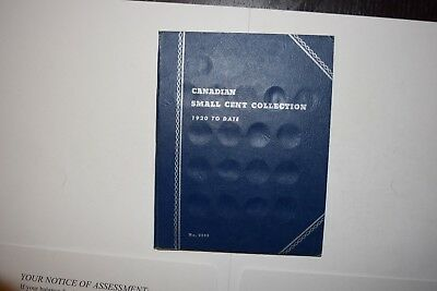Canada Small Cent Collection in Book - Dates: 1920 to 1972 Mostly Complete