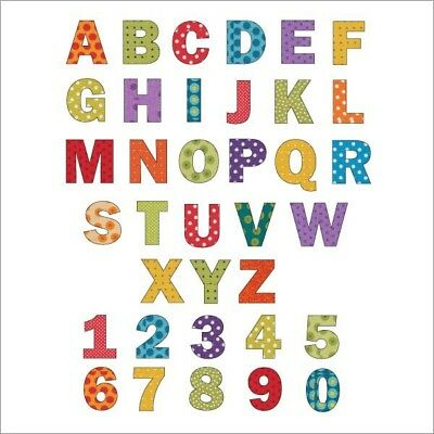 """1"""", 2"""", 3"""", 4"""", 5"""" SELF ADHESIVE VINYL LETTERS & NUMBERS x3 UPPER/LOWER STICKERS"""
