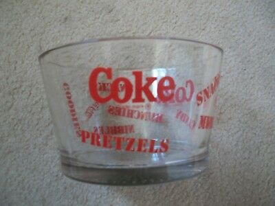Beautiful Coca Cola Glass Pretzel- Snack Bowl