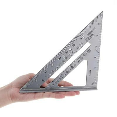 2019 90°Metric Ruler Aluminum Alloy Speed Square Roofing Triangle Protractor