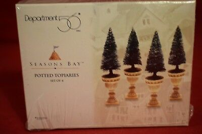 Dept 56 POTTED TOPIARIES set of 4   Seasons Bay Collection  #53370  NIB (Q1117L)