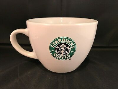Starbucks wide mouth coffee tea mug cup 2007 green mermaid logo 18 oz