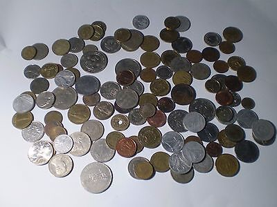 Rare Collection of 100+ Old Coins From Around the World. MIXED LOT.
