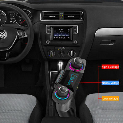 1X Bluetooth Handsfree Car Kit FM Transmitter Modulator Aux Audio USB MP3 Player
