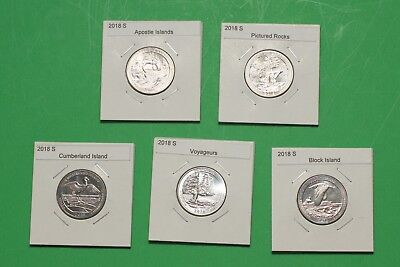 2018 S America The Beautiful Quarters(ATB) 5 Coin Set - Mint Bags- Free Shipping