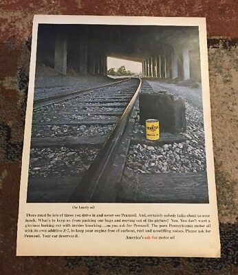 Vintage Magazine Ad Pennzoil Oil  1 Page Ad Automotive Ad Man Cave AT41
