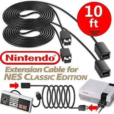 10 ft Controller Extension Cable for Super Nintendo SNES&NES Classic Edition Lot