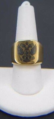 Vintage Russian Imperial Double Headed Eagle Ring