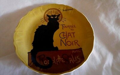Tournee Du Chat Noir Plate Black Cat Porcelain Made in  Paris ~ Artertre