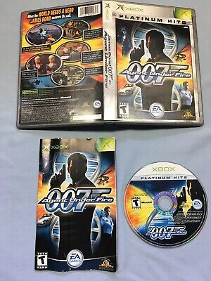 James Bond 007 in Agent Under Fire (Microsoft Xbox, 2002) Complete Platinum Hits