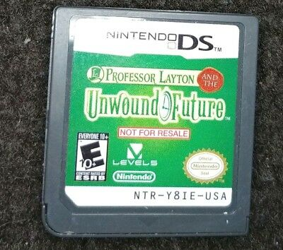 Professor Layton and the Unwound Future Demo Not for Resale Nintendo DS Cart