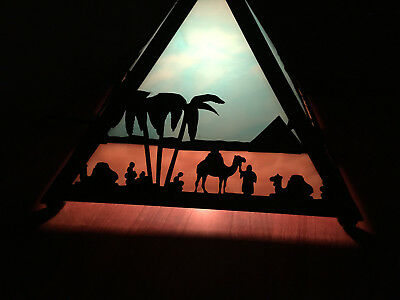 Meyda Stained Glass Egyptian Pyramid Table Lamp