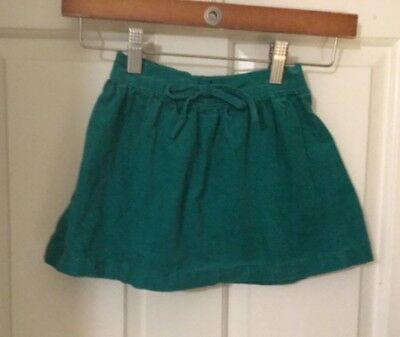 Carters green corduroy flare skirt size girls 4t