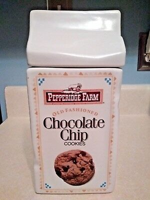Pepperidge Farms Cookie Jar Chocolate Chip ~ Ginger Man Collectible Ceramic