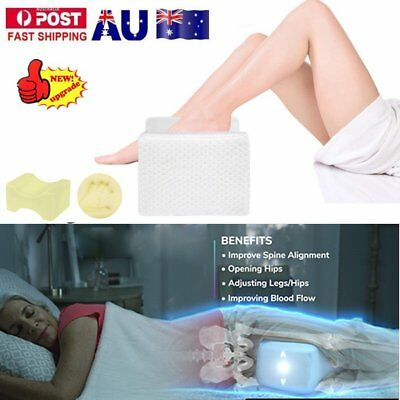 Memory Foam Leg Pillow Cushion Hips Knee Support Pain Relief w/ Washable Cover S