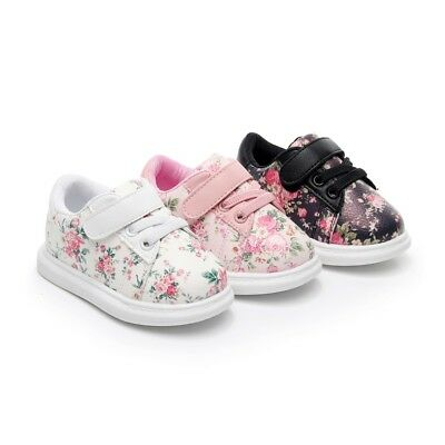 55215176ba6e Girls Cute Baby Shoes Soft Toddler Moccasins Floral Print Sneakers Sport  Shoes