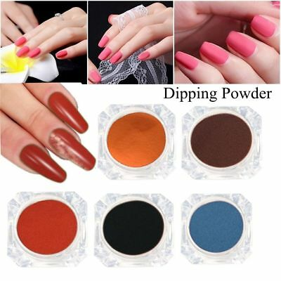 10 Colors Nail Dip Dipping Powder Pro Polish Starter Kit Base Top Coat NO SMELL