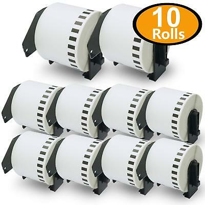 "Compatible Brother Address Labels 10 Rolls DK-2205 62mm x 30.48m (2-3/7"" x 100')"