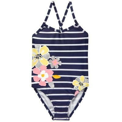 NWT Gymboree Girl Swimsuit Navy Blue Flower Swim shop UPF 50+ many sizes