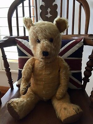 Vintage Mohair Straw Filled Teddy Bear.
