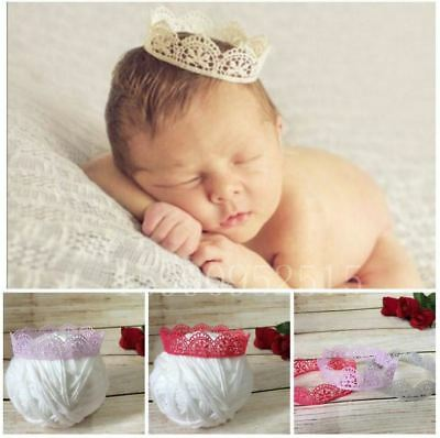 Newborn Lace Baby Crown Photo Props Photography Costume 0-3 months