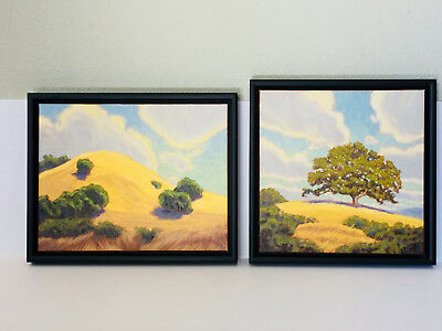 Lot of 2 Signed TOM TANEYHILL Original Oil On Canvas Paintings Framed