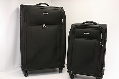 Samsonite Victory Two Piece Nested Soft Side Set 21 inches 29 inches Black