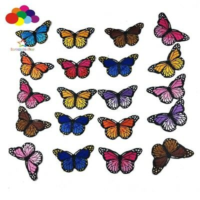 Butterfly mixed random 4 pcs Iron on Patches Embroidered Badge Applique patch