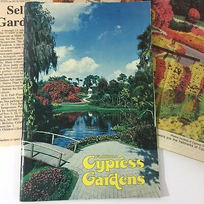 Vintage CYPRESS GARDENS Booklet Florida Souvenir with Newspaper Articles