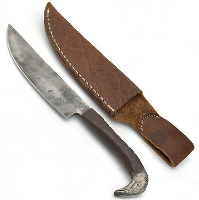 Norse Tradesman Handford Viking Knife With Cowhide Leather Sheath - 6.5' Sharp