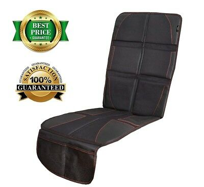 Car Seat Protector Thickest Padding XL Size Durable Water/Dirty proof 2 Pockets