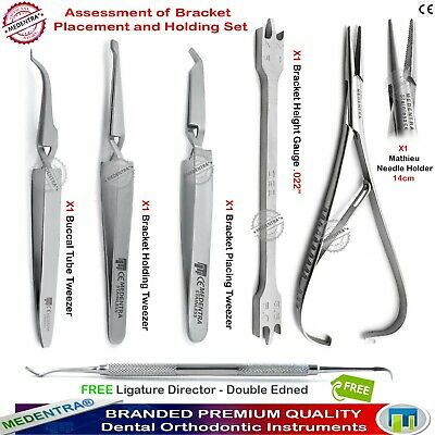 Orthodontist Lab Bracket Height Gauge Holding Tweezers Ligating Mathieu Pliers