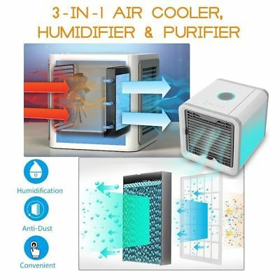 Quick Cool Arctic Air Personal Air Cooler Humidifier Portable Fan Home Office AU