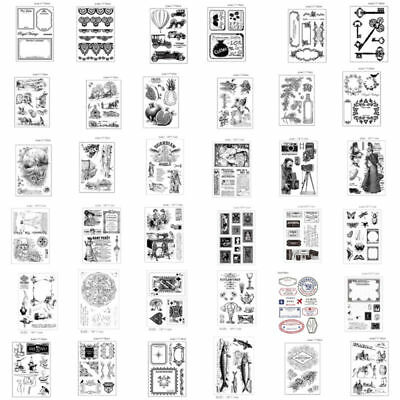 Rubber DIY Stamp Sets SiliconeTemplate Die Card Album Decor Cutting Scrapbooking