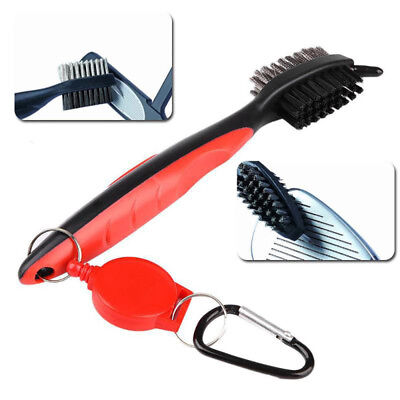 Golf Club Cleaning Brush Groove Cleaner Tool Iron Club Brush Hook to Gifts 3 Pcs
