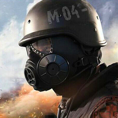 Breathable Gas Masks Filter Fan CS Edition Perspiration Dust Face Guard Toys