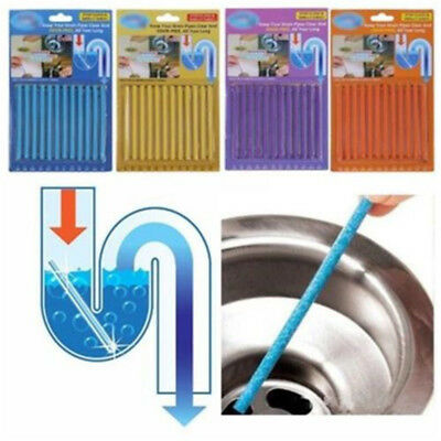 Ampe Sticks Drain Cleaner Sticks Drains Pipes Clear Odor Prevent 12PCS