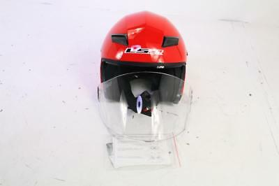 b5d4b95e LS2 Helmets 569-3024 Track Solid Open Face Motorcycle Helmet Sunshield Red  Large