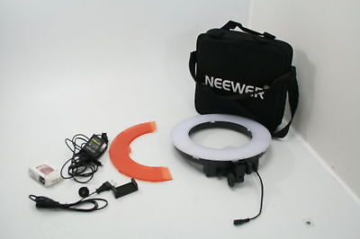 "Neewer RL-12 LED Ring Light 14"" Outer 12 On Center Light Stand Soft Tube Filter"
