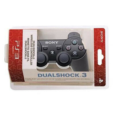 For Play Station 3 Black PS3 Dualshock Bluetooth Wireless Gamepad Controller