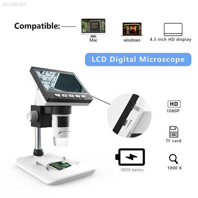 "UK 1000X 4.3"" HD LCD Monitor Electronic Digital Video Microscope LED Magnifier"
