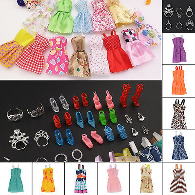 26 Items For Barbie Doll Dresses, Shoes,jewellery Clothes Set Uk Seller Free P&p