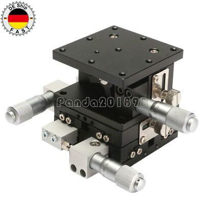 XYZ 3 Axis Linear Stage Trimming Platform Bearing Tuning Sliding Table 60mm paDE