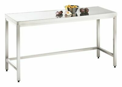 Work Table 2400x700x850mm, Full from Stainless Steel 1.4301 Kitchen Working