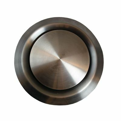 100mm Ceiling Exhaust And Supply Valve Stainless Steel Ducting Vent / Grille